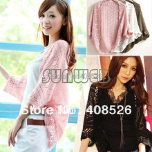 2014 New Fashion Korea Women Hollow Sweater Shawl Shrug Jacket Knitwear Cardigan FREE SHOPPING 29(China (Mainland))