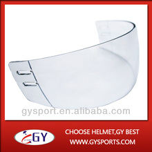 Fashion clear Outside Anti-scratch and Inside Anti-fog Hockey Visor