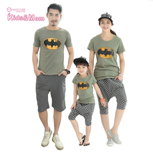 Family Look Family Clothing Mother Father Baby Daughter Clothes Set Print T Shirt+Shorts Mother and Son Matching Outfits