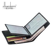 43 ZEDN Men s Driver s License Wallets Short Designer Genuine Leather Soft Purses Multi Card