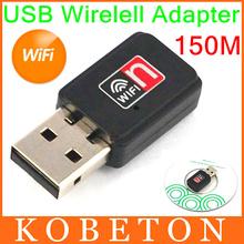 Mini usb 150 m rete scheda lan 150 mbps wifi wireless adapter 802.11 n/g/b per apple macbook pro air win xp 7 8(China (Mainland))