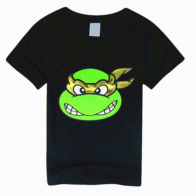 2016 Children Boys Teenage Mutant T Shirts Short Sleeve Ninja Turtles T-Shirts Cartoon Printed Tops Kids Clothing Summer Style(China (Mainland))