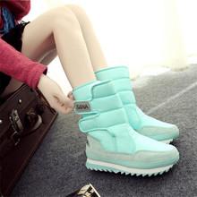 2017 Mujeres Botas de Nieve de Gran Tamaño 35-41 Botas de Invierno Muy Cálido de Felpa Botas de Moda Plataforma de Zapatos de Las Mujeres Envío de la gota(Canada)