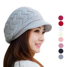 New Design Fashion Women Hat Winter Skullies Beanies Knitted Hats Rabbit Fur Cap free shipping(China (Mainland))