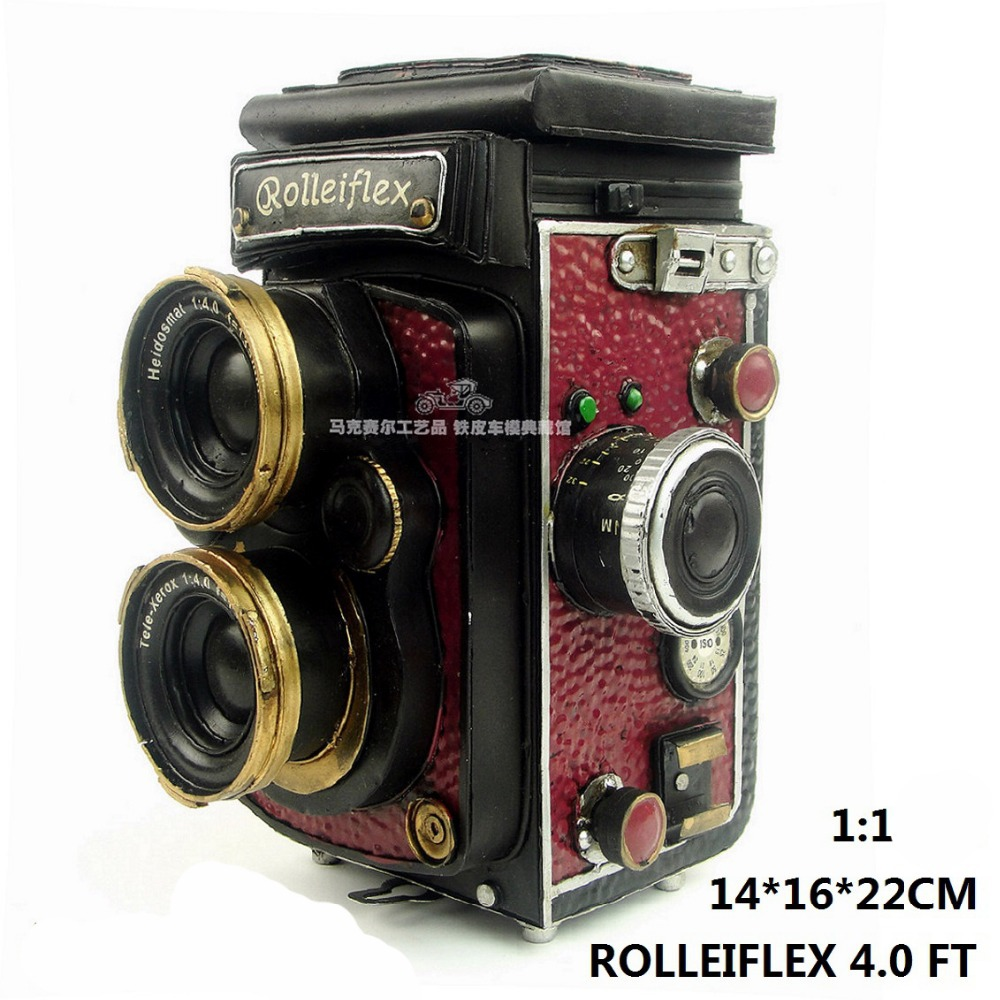 Germany Rolleiflex Vintage Camera Model handmade antique metal craft home office bar cafe decoration gift(China (Mainland))