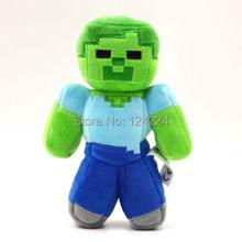 "18cm/7""Jazwares Minecraft MC Steve Zombie Creeper Ghost Animal Plush Toy Doll(China (Mainland))"