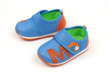 2015 0-2 years old spring autumn baby walking shoes breathable and soft sports shoes baby toddler shoes pink blue 11-13 cm(China (Mainland))