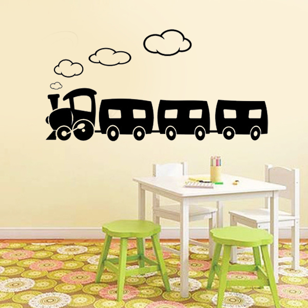 Choo Choo Train wall decals vinyl stickers home decor Baby girl Bedroom wall sticker kids room decoration stickers for children(China (Mainland))