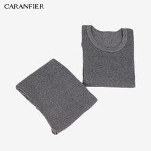 CARANFIER Lycra Cotton ยาว Johns ผู้ชายหรือผู้หญิงรอบคอชุดชั้นใน Breathable ฤดูหนาวเสื้อผ้าชายไม่มีรอยต่อ Warm L-XXXL(China)