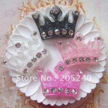 free shipping! very hot and kawaii flat back resin crown  20pcs mixed