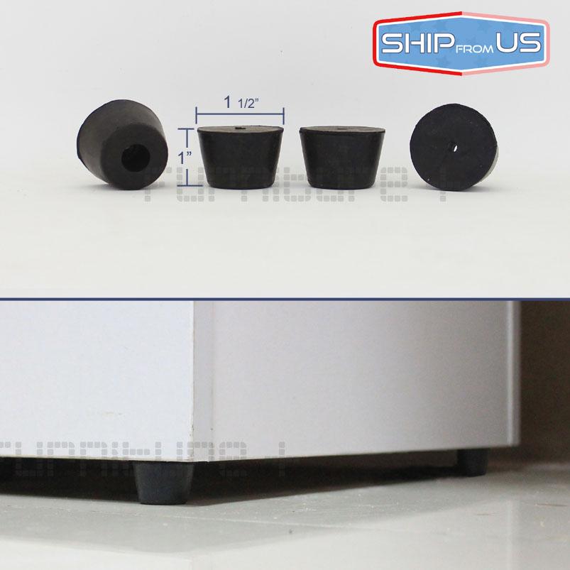"Table Base Round Rubber Pad Cabinet Feet Furniture Leg 1""(China (Mainland))"