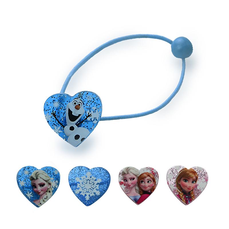 1 pair Elsa Anna Head Rope Hair Band Headwear Heart-shaped Female Girls Babys Hair Accessory Hairpin Christmas Gift(China (Mainland))