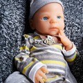 IVITA 5052g 22inch Lifelike FULL BODY SILICONE Reborn Baby Doll Boy Child Toys With Clothes Real