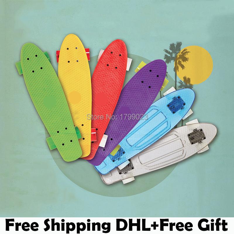 2015 New Multicolor penny board skateboards Complete Retro elektroscooter Mini Longboard Skate Fish Skateboard Free Shipping(China (Mainland))