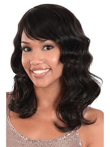 16'' Black Body Wave Full Lace Wigs From WigsBeautyMall China,100% Human Brazilian Hair,Vogue Black Women The Best Choice Online(China (Mainland))