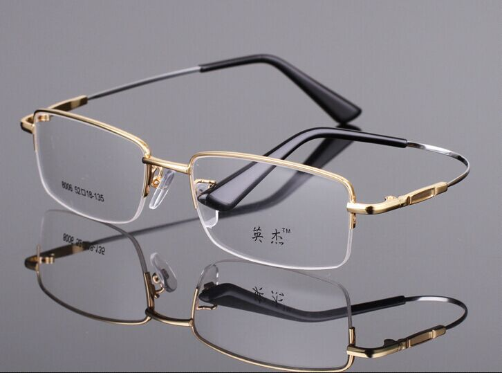 Eyeglass Frames Shape Memory Alloy : New spectacle eyeglasses shape memory titanium alloy Half ...