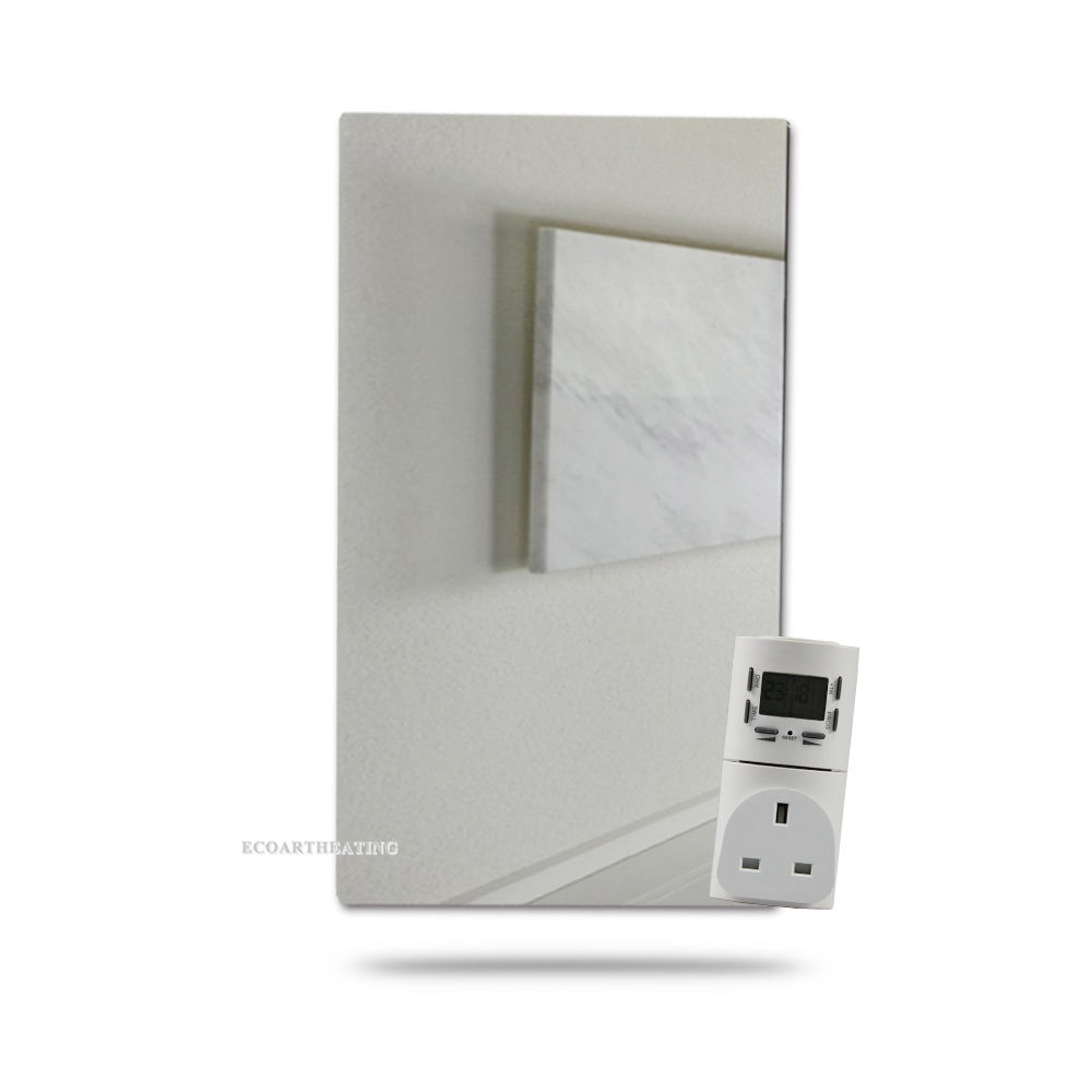 450w Bathroom Heater Infrared Radiant Mirror Heater with Digital Timer Socket(China (Mainland))