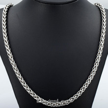 Personalized 3 3 5 4 9 6 8mm Mens Chain Braided Wheat Spiga Silver Tone Stainless