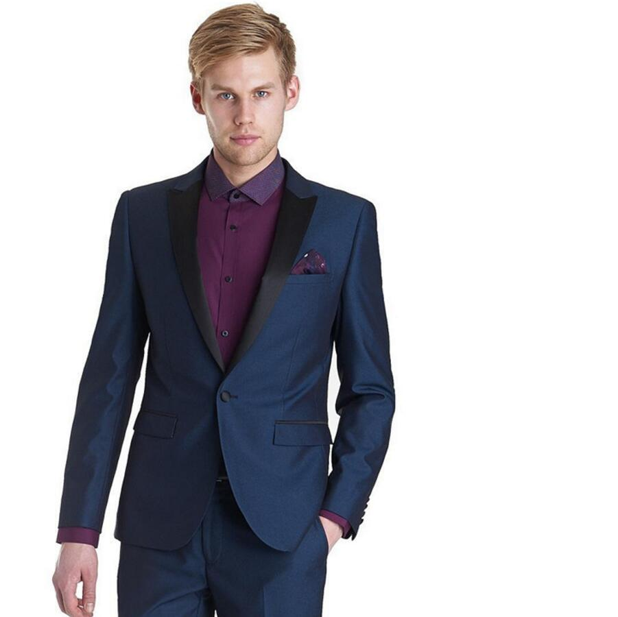Online Get Cheap Black and Royal Blue Prom Suits for Men
