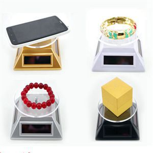 2014 New Solar rotation Showcase Solar Powered Turntable Rotary Jewelry Display Stand With Low Price(China (Mainland))
