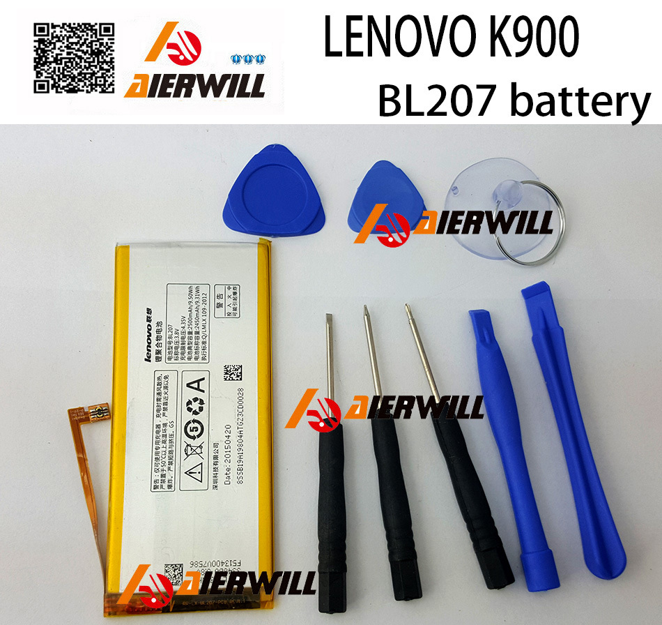 LENOVO K900 battery In Stock 100% Original BL207 2500Mah Replacement Battery for LENOVO K900 Smart Mobile Phone + Free Shipping
