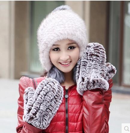 rabbit Fingerless Gloves Gloves rabbit fur gloves ladies winter tide(China (Mainland))