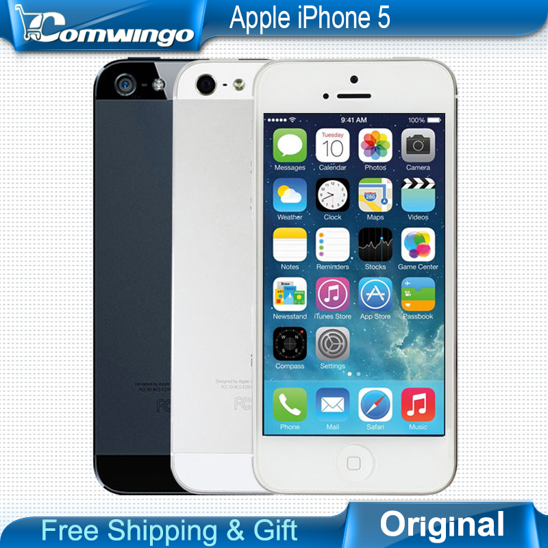 Factory unlocked APPLE iPhone 5 Original Cell Phone iOS 8 OS Dual core 1G RAM 16GB