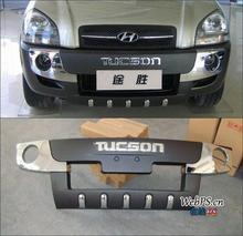 Free shipping car stickers aluminum material bumper logo letter for Hyundai Tucson(China (Mainland))