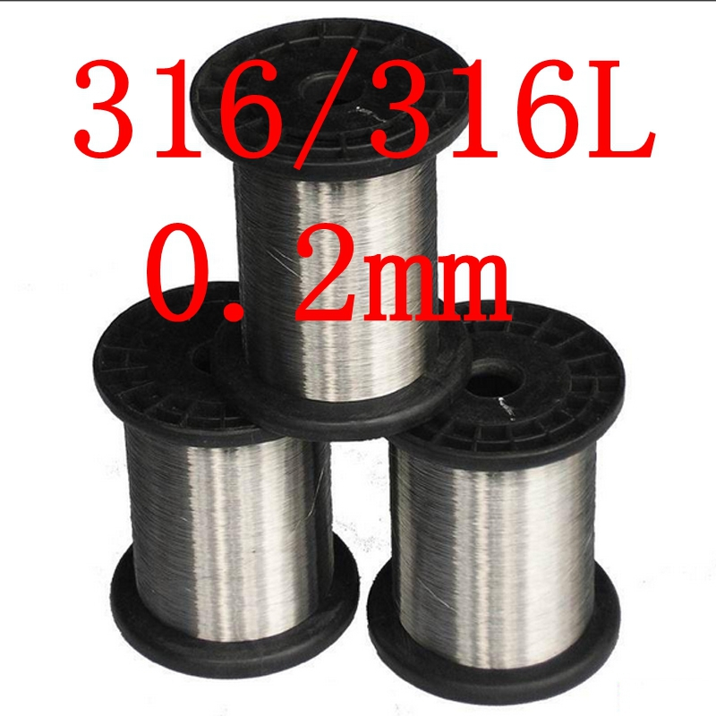 0.2mm,316/316L Soft Stainless Steel Wire,33 gauge/0.2mm SS Seaworthy Thread(China (Mainland))