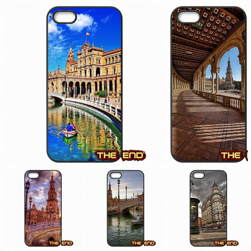 For Apple iPod Touch 4 5 6 iPhone 4 4S 5 5C SE 6 6S Plus 4.7 5.5 PLAZA DE ESPANA Sevilla Spain Case Cover(China (Mainland))