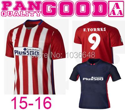 2015 Madrides jersey 15 16 ARDA home away KOKE GRIEZMANN RAUL MANDZUKIC ARDA F.TORRES 2016 home red away black football shirt(China (Mainland))