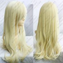 Hat Resista nt Cosplay party TJ**** Light Blonde Long wavy cosplay wig 80cm - jewe store