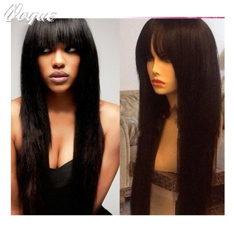 Здесь можно купить  6A grade lace front wigs with bangs Silky straight lace front wigs Brazilian human hair full lace wig with baby hair  Волосы и аксессуары
