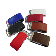 Free Shipping Gadget Hi speed leather pen drive usb 2.0 customized logo 8GB 16GB 32GB 64GB Leather usb