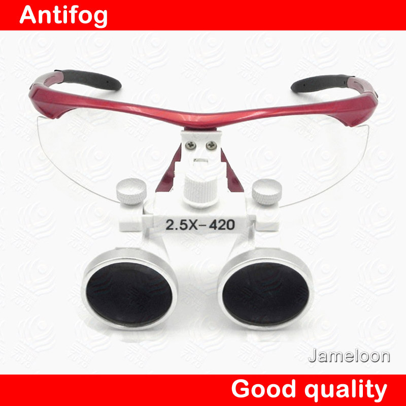 2.5X 420mm working distance Good quality antifog dentist Loupes surgical magnifier magnify glasses<br><br>Aliexpress