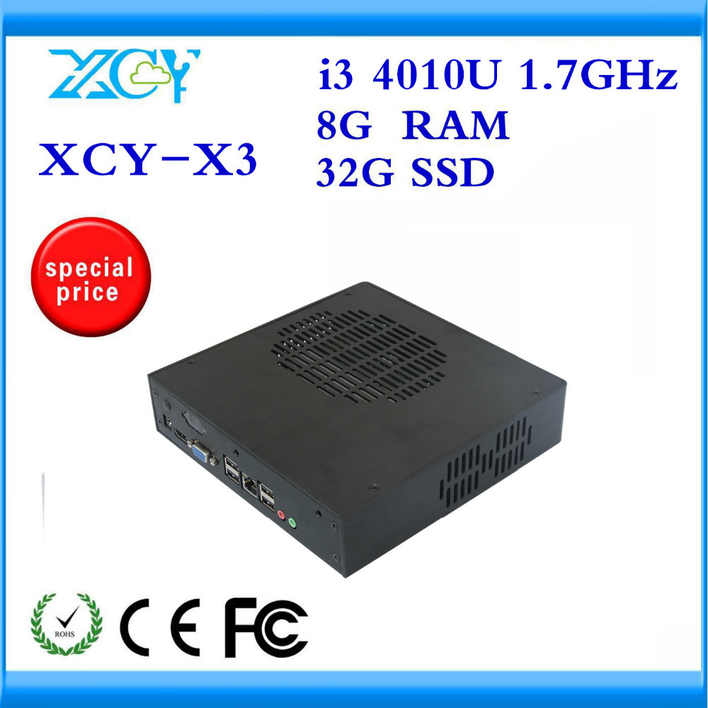XCY I3 4010U FAN MINI COMPUTER 8G RAM AND 32G SSD DUAL CORE SUPPORT WIRELESS KEYBOARD MOUSE FULLSCREEN MOVIES THIN CLIENT(China (Mainland))