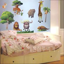 Горячие Деревья продаже и TC1067 Медведь наклейки мультфильм Детский Дневной Детская комната Декор Бесплатная доставка