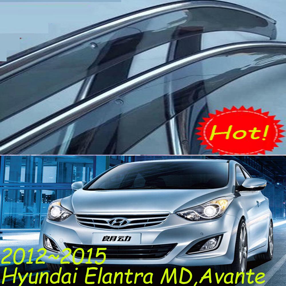 Здесь можно купить  2012~2015 Hyundai Elantra  MD,Avante Rain visor Guard deflector(pls make sure your car100%the same to our picture)4pcs,Free ship  Автомобили и Мотоциклы