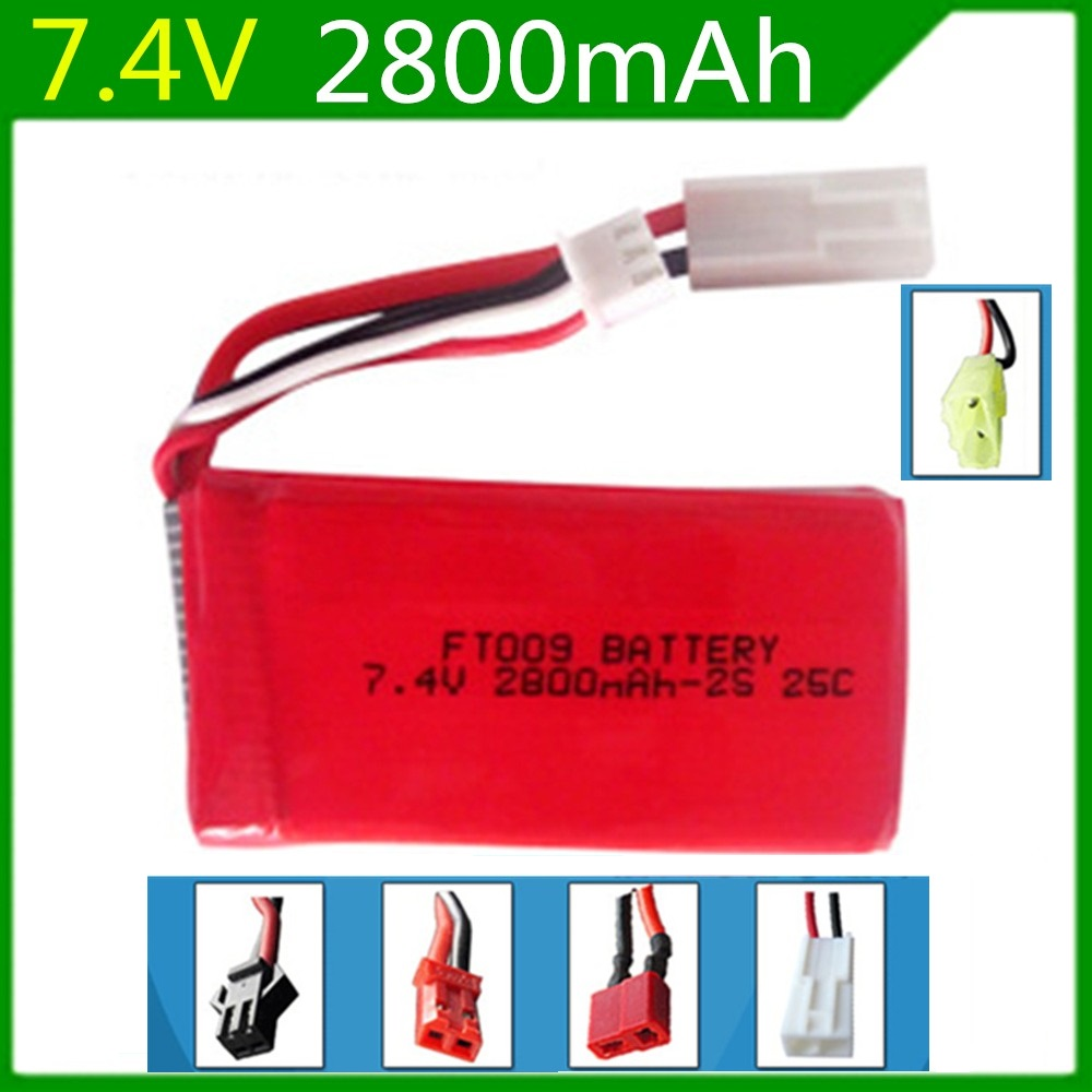 7.4V 2800mAh lithium polymer Lipo Battery For Huanqi 955 Huanqi 948 Feilun FT009 2.4G Remote control speed boat 2S Lipo battery(China (Mainland))