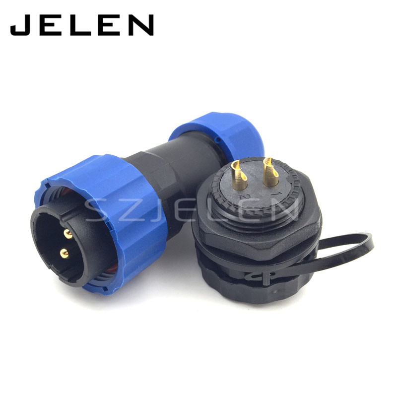 SD20TP-ZM, 2 pin waterproof connector ,IP68, LED power cable connector, Rated current 25A, install the cable 6.5-12mm(China (Mainland))