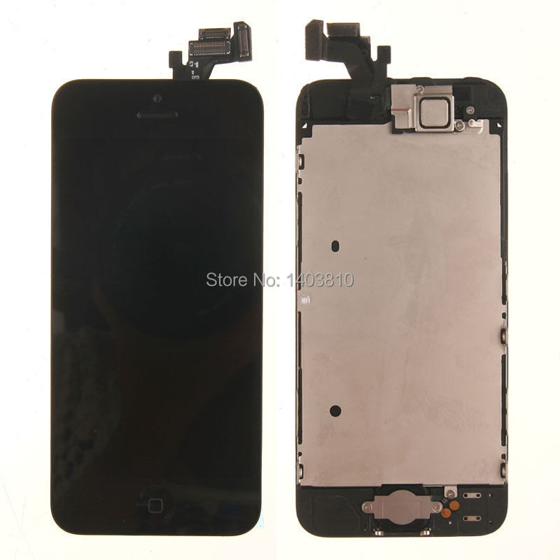 Фотография Free shipping Original LCD Display Screen Digitizer Assembly W/ Home Button & Front Camera For iPhone 5