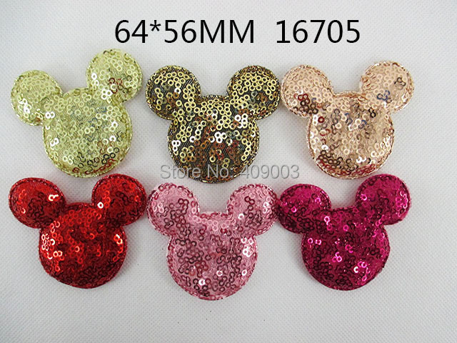 25Y16705 freeshipping 64*56mm minnie Sequin patch Girls Headwear Clip Hairpin accessories(China (Mainland))