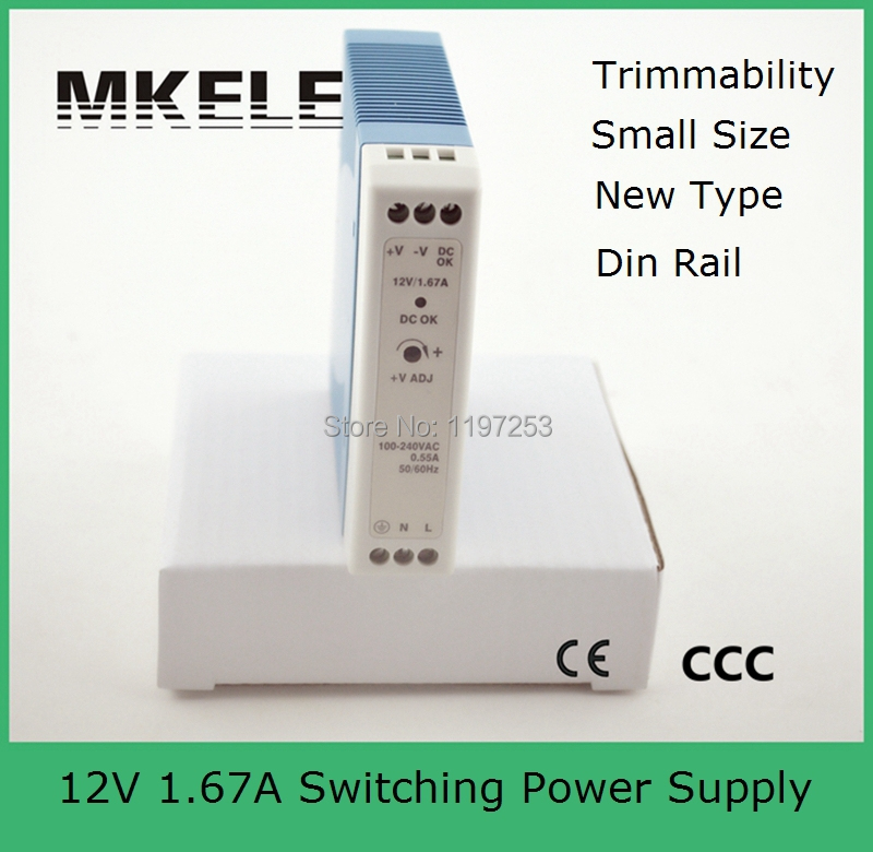 low price din rail nice quality 15v ac/dc switching power supply MDR-20-15 1.34a Din Rail mounting CE approved 20w small size(China (Mainland))