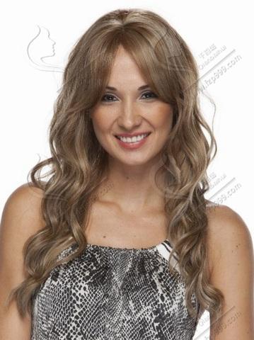 Wanita rambut sintetis, Wig alami, Dapat perm tidak ada renda wig, Lurus panjang wanita GaGaS Hairstyle 200 g warna pirang<br><br>Aliexpress