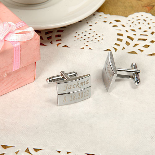CL-020 1Pair Personality Wedding Cufflinks Brand Designed Sliver Mens Personalized laser engraved - Dcee jewelry factory Store store