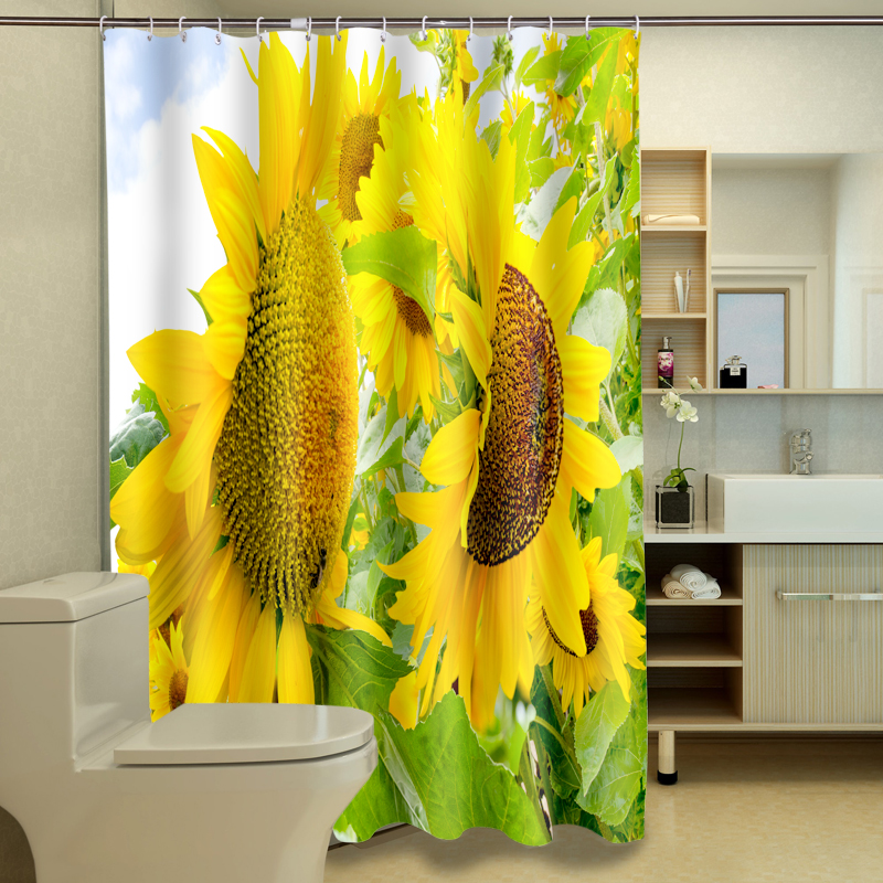 Popular Sunflower Shower Curtain Hooks Buy Cheap Sunflower