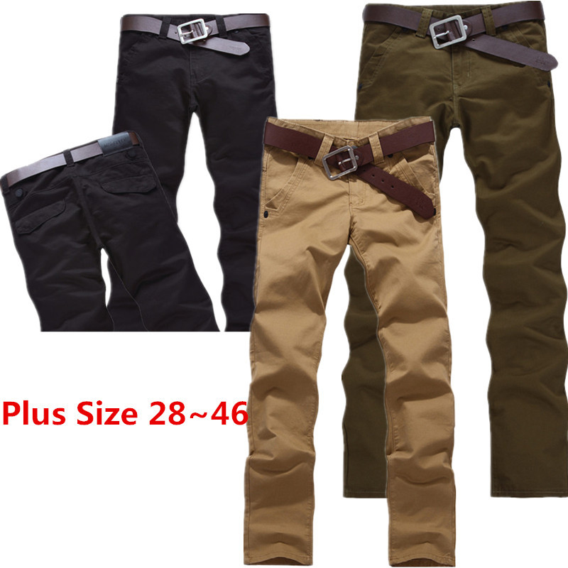 Plus Size 28-46 Men Trousers Classic Male Casual Pants Mens Chino Pants Khaki, Black,Army Green Chinos Men's Fashion Pants 868(China (Mainland))