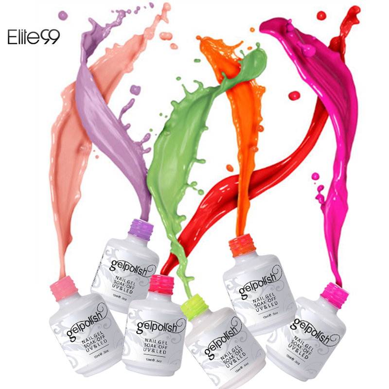 Elite99 Pick 1 UV Gel Nail All 241 Colors in Stock Gel Polish Unique Manicure Kit Quick Drying Nail Lacquer Free Tip Guides 15ml(China (Mainland))