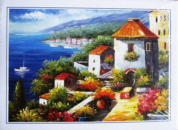 Sea House Landscape Educational Puzzle Paper 100 200 300 1000 PCS Packed Baby Jigsaw 1000 juguetes jigsaw puzzles online(China (Mainland))