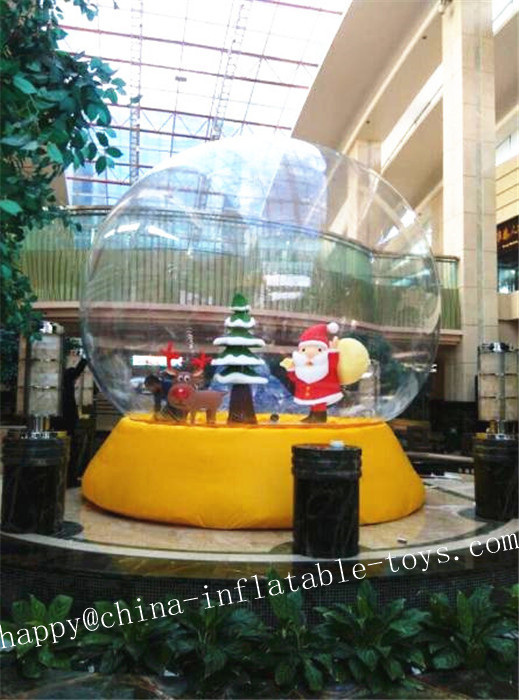 3M Inflatable Transparent Ball Advertising Snowball For Chrismas Decoration Inflatable Balloons Can Be Customized(China (Mainland))